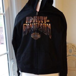 Harley Davidson Black Heavy Arsenal Black Hoodie
